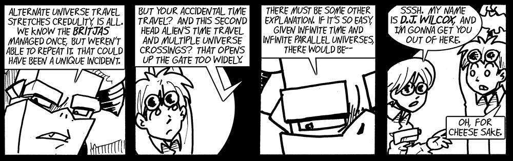 Alternate universe travel stretches credulity