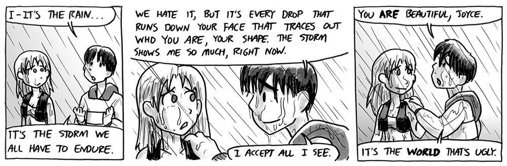It's the rain…